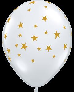 Contempo Stars Crystal Diamond Clear (Transparent) Latexballon Rund 11in/27.5cm
