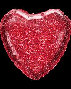 Glittergraphic Red Folienform Herz 18in/45cm