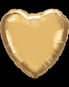 Chrome Gold Folienform Herz 18in/45cm