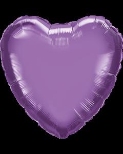 Chrome Purple Folienform Herz 18in/45cm