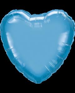 Chrome Blue Folienform Herz 18in/45cm