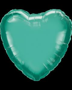 Chrome Green Folienform Herz 18in/45cm