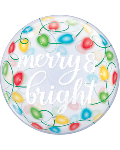 Merry und Bright Lights Single Bubble 22in/55cm