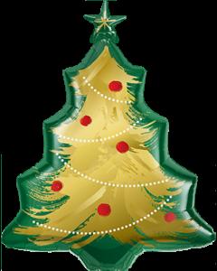 Christmas Tree Brushed Gold Folienfiguren 40in/100cm