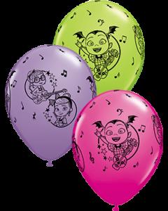 Disney Vampirina Fashion Lime Green, Fashion Robin's Egg und Fashion Wild Berry Sortiment Latexballon Rund 11in/27.5cm