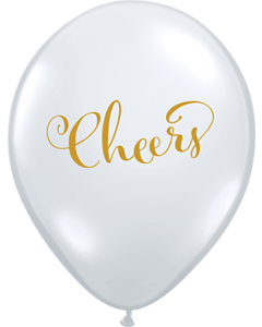 Simply Cheers Crystal Diamond Clear (Transparent) Latexballon Rund 11in/27.5cm