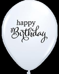 Simply Happy Birthday Standard White Latexballon Rund 11in/27.5cm