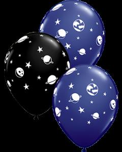 Celestial Fun Fashion Onyx Black und Fashion Navy Sortiment Latexballon Rund 11in/27.5cm