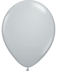Fashion Grey Latexballon Rund 16in/40cm