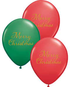 Simply Merry Christmas SortIment Red und Green Latexballon Rund 11in/27.5cm