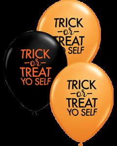 Simply Trick-Or-Treat Yo Self Sortment Latex Rund 11in/27.5cm