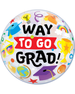 Way To Go Grad Everything Single Bubble 22in/55cm