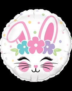 Bunny Face Folienform Rund 18in/45cm