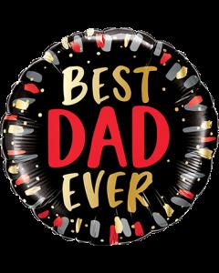 Best Dad Ever Folienform Rund 18in/45cm