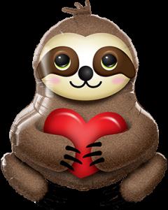 Adorable Sloth Folienfiguren 39in/99cm