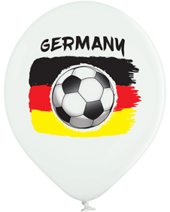 Deutschland Flagge Pastel White Latexballon Rund 12in/30cm