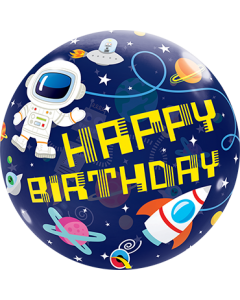 Bday Outer Space Single Bubble 22in/55cm