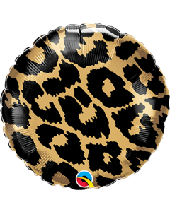 Leopard Spots Pattern Folienform Rund 18in/45cm