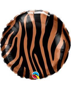 Tiger Stripes Pattern Folienform Rund 18in/45cm