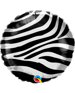 Zebra Stripes Pattern Folienform Rund 18in/45cm
