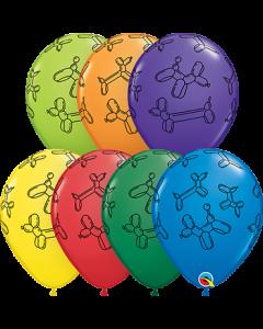 Balloon Dogs Carnival Sortiment Latexballon Rund 11in/27.5cm