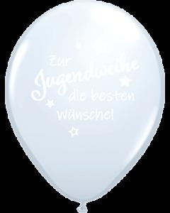 Zur Jugendweihe die besten Wünsche Crystal Diamond Clear (Transparent) Latexballon Rund 18in/45cm