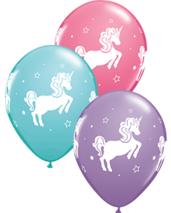 Whimsical Unicorn Special Sortiment Latexballon Rund 11in/27.5cm