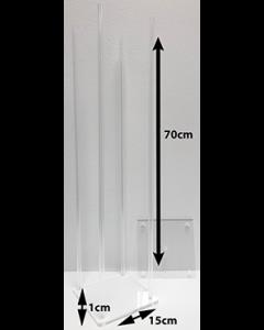 4er Acrylglas Ständer für Tisch- und Buffetdekorationen