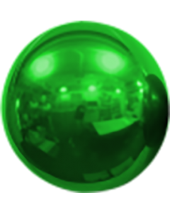 Mirror Ball Foil Green 16in/40cm