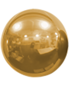 Mirror Ball Foil Gold 16in/40cm