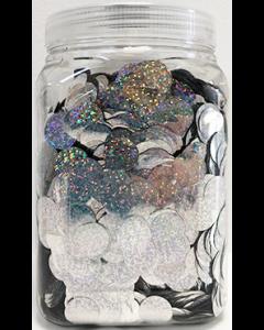 Konfetti Metallic Silber Holographic 2cm 1kg