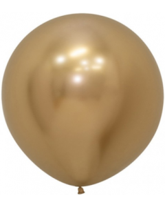 Reflex Gold Latexballon Rund 24in/60cm