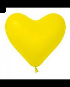 Fashion Yellow Latexherzen 6in/15cm