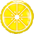 Sliced Lemon Folienform Rund 18in/45cm
