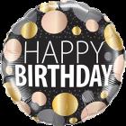 Birthday Big Metallic Dots Folienform Rund 18in/45cm