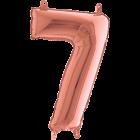 7 Rose Gold Folienzahlen 14in/36cm