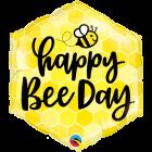 Happy Bee Day Folienform Hexagon 20in/50cm