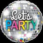 Let's Party Disco Ball Folienform Rund 18in/45cm