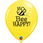 Bee Happy Yellow Latexballon 11in/27.5cm