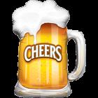 Cheers! Beer Mug Folienfiguren 35in/89cm