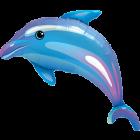 Delightful Dolphin Folienfiguren 42in/100cm