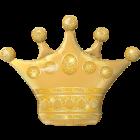 Golden Crown Folienfiguren 41in/104cm