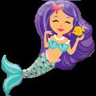 Enchanting Mermaid Folienfiguren 38in/97cm