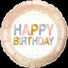 Birthday Metallic Dots Folienform Rund 18in/45cm