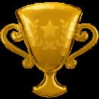 Golden Trophy Folienfiguren 39in/99cm