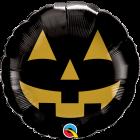 Jack Face Black & Gold Folienform Rund 9in/22.5cm