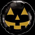 Jack Face Black und Gold Folienform 18in/45cm