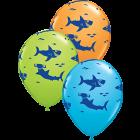 FUN SHARKS! Special Sortiment Latexballon Rund 11in/27.5cm